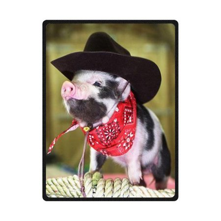CADecor Cute Pig Fleece Blanket Throw Blanket 58x80 inches - Pig In A Blanket Halloween