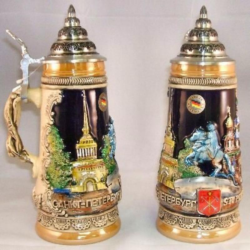 King Werks St Petersburg Russia German Beer Stein
