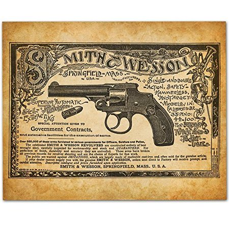 Smith & Wesson - Superior Automatic Revolvers - 11x14 Unframed Art Print - Great Gift for Gun