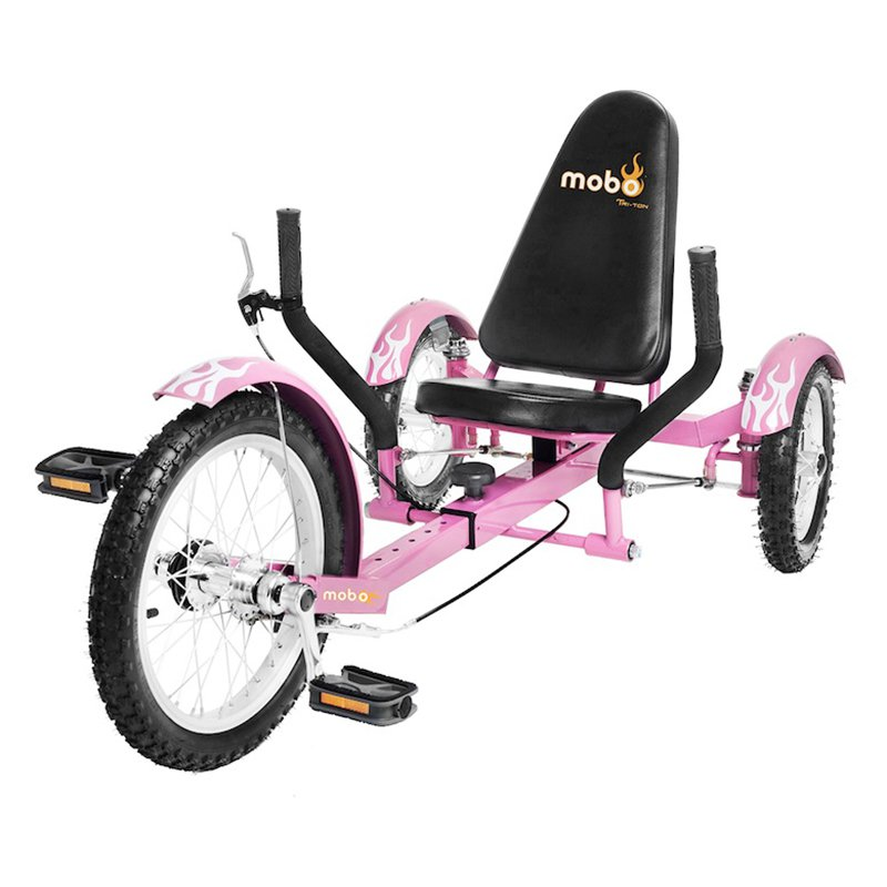Mobo Triton 16 in. Youth The Ultimate Three Wheeled Cruiser Recumbent Bicycle by ASA Products Inc