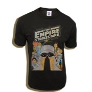 Star Wars The Empire Strikes Back Black Wash Adult T-Shirt