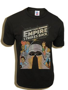04b41ac5 Product Image Star Wars The Empire Strikes Back Black Wash Adult T-Shirt