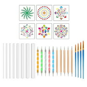 Egmy Pattern Dotting tools Set Stone Painting Kit Pen Brushes Stencil Drawing Art