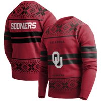 Oklahoma Sooners College Two-Stripe Light-Up Sweater - Crimson