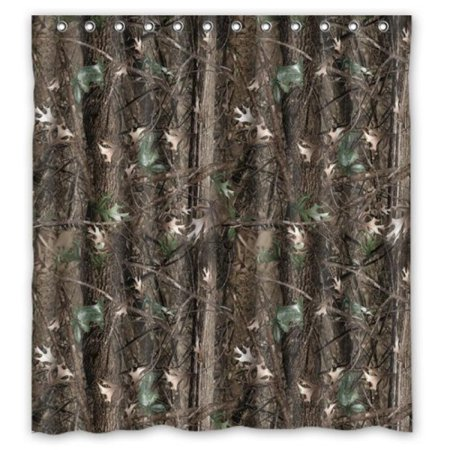 60 X 72 Waterproof Bathroom Camouflage Tree Camo Tree Shower Curtain