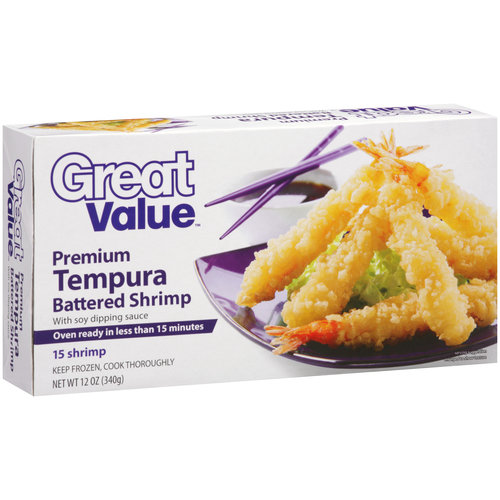 Great Value Premium Tempura Battered Shrimp, 12 oz