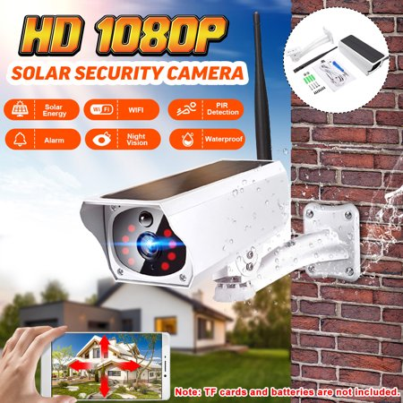 2019 NEW Outdoor IPX67 Waterproof HD 1080P Solar & Battery Power Security Camera Wireless WIFI B ullet IP Camera 2MP IR-CUT Night Vision PIR Motion Detection Android/iOS (Best Home Security Camera Outdoor 2019)