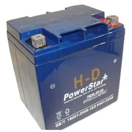 Powerstar Pm30l Bs Hd 3 Harley Davidson Battery For Harley Davidson Fl Flh Flt Flhr Road King Glide Touring
