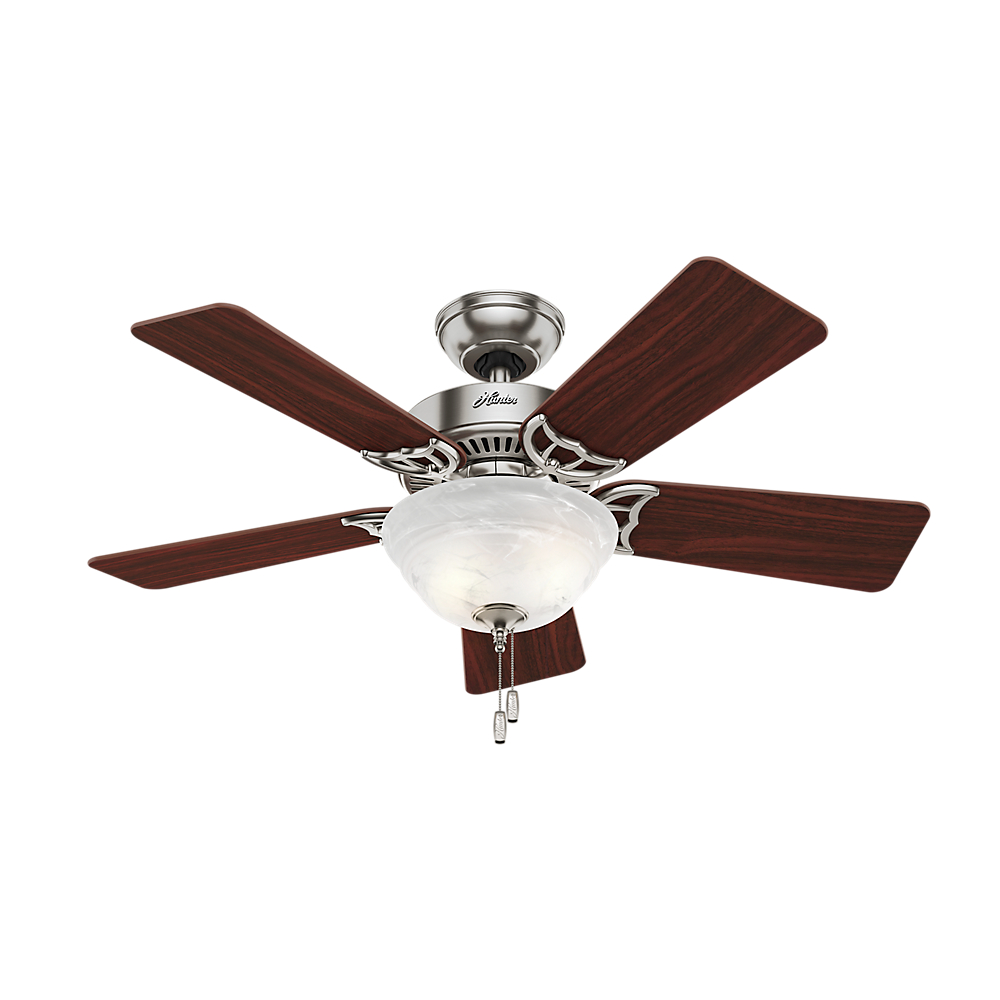 Hunter 42 Quot Kensington Brushed Nickel Ceiling Fan With