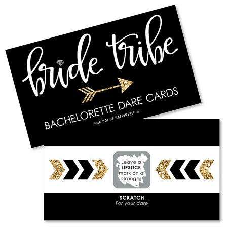 Bride Tribe - Bridal Shower & Bachelorette Party Game Scratch Off Dare Cards - 22 (Bachelorette Party Dares List For The Bride)