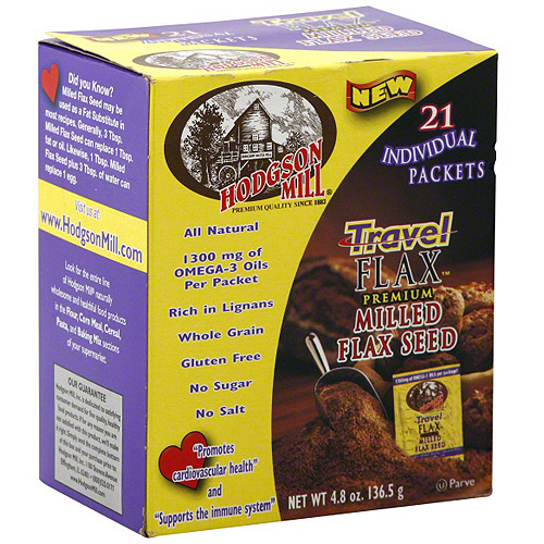 Hodgson Mill Travel Milled Flax Seed, 21ct (Pack of 6)