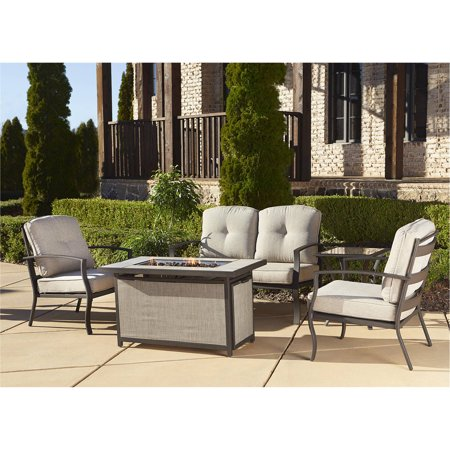 Cosco Outdoor 5 Piece Serene Ridge Aluminum Patio Furniture Conversation Set