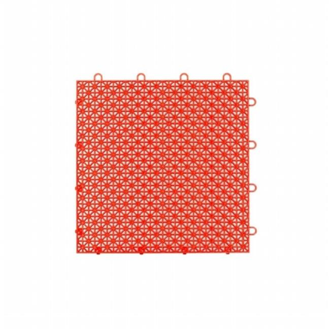"""Armadillo Tile, 12"""" x 12"""", Flaming Red, 9 per Pack"""