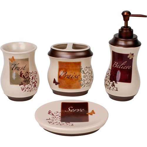 Exceptional Butterfly Blessngs 4 Piece Bath Accessor