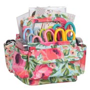 Everything Mary Organizer Storage Caddy for Desk, Floral - Art Supplies Tote Office & Desktop - Craft Supply Organizers for Crafts, Nurse, Makeup - Work Holder for Scrapbook, Sewing, Arts,& School