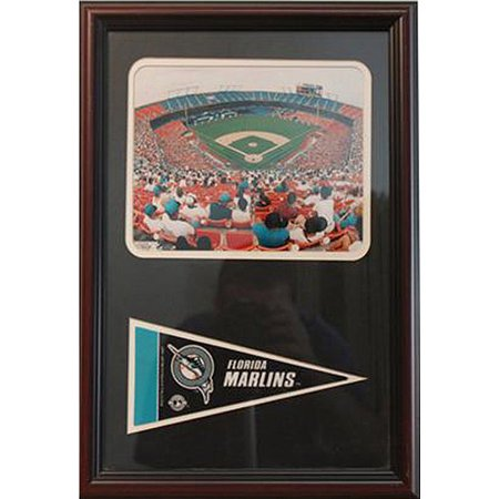MLB Miami Marlins Pennant Frame, 12x18 by