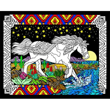 Midnight Velvet Clearance (Midnight Bronco - Fuzzy Velvet Coloring Poster 16x20)