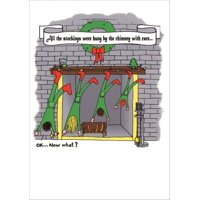 Curiosities Greeting Cards Stockings Box of 18 Funny / Humorous Christmas Cards