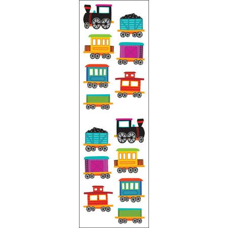 Mrs. Grossman's Stickers - Chubby Trains (Train Stickers)