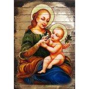 G Debrekht Inspirational Icon Virgin Mary Directress Painting