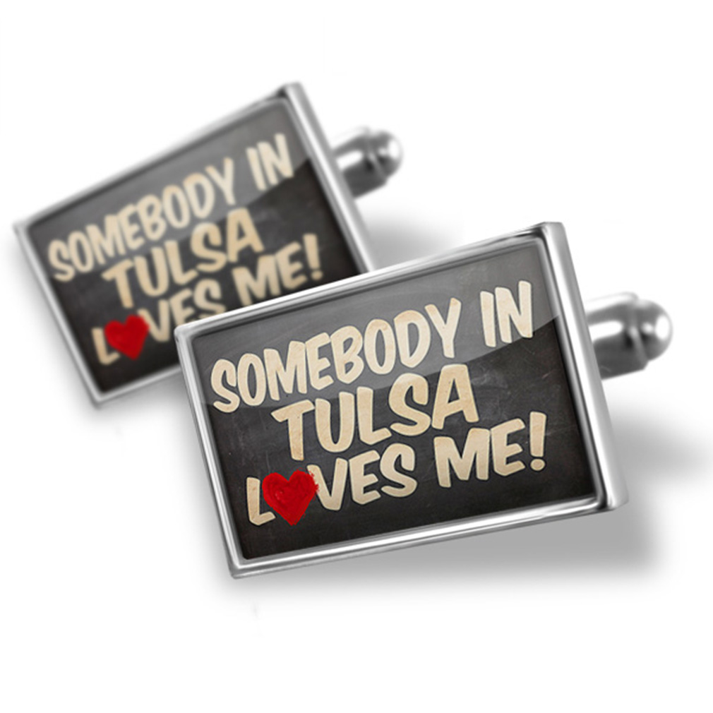 Cufflinks Somebody in Tulsa Loves me, Oklahoma - NEONBLOND
