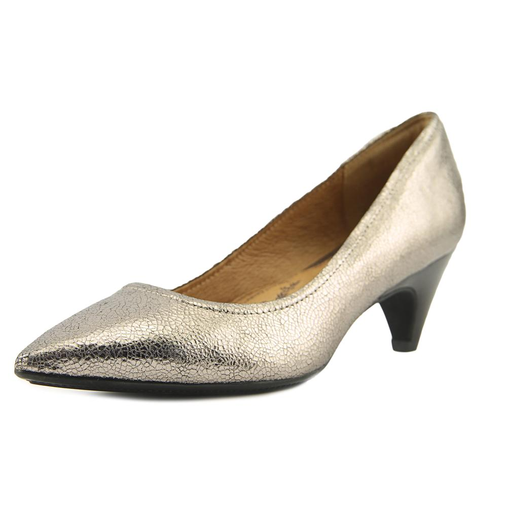 Sofft Altessa II Women W Pointed Toe Leather Silver Heels by Sofft