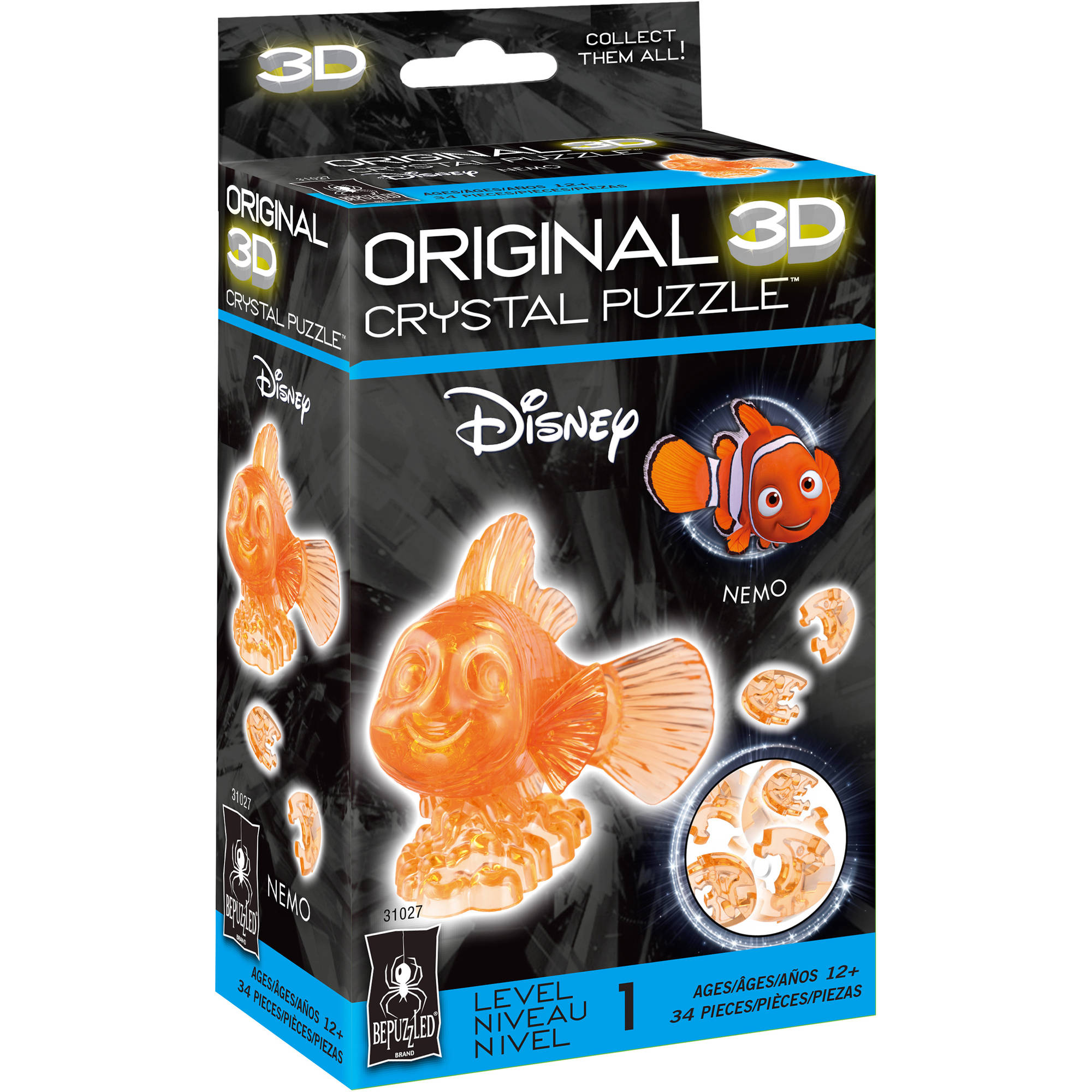 BePuzzled 3D Crystal Puzzle - Disney Nemo: 34 Pcs