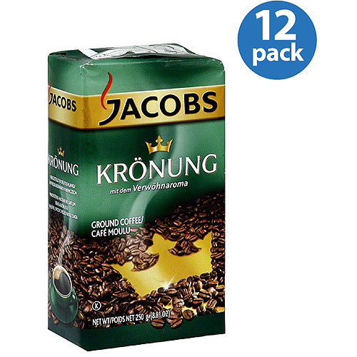 Jacobs Kronung Ground Coffee, 8.81 oz, (Pack of 12)