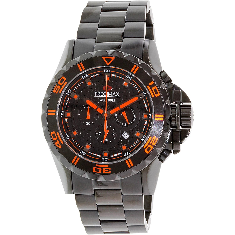 Precimax Men's Carbon Pro PX13232 Black Stainless-Steel Quartz Sport Watch by Precimax