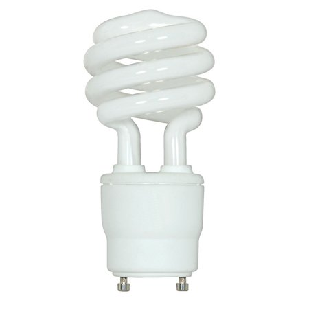 Satco 18W Mini Twist 2700K GU24 base Compact Fluorescent Light Bulb 18w Compact Fluorescent Bulb