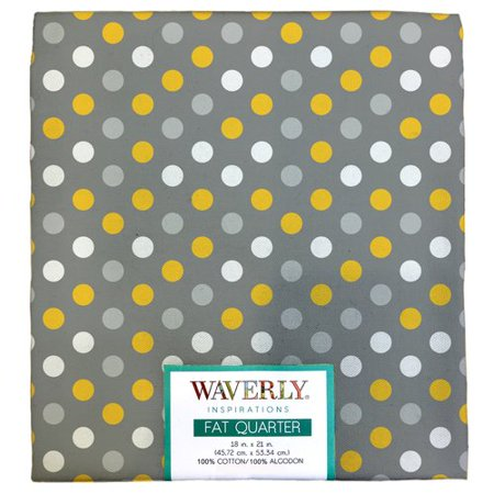 "Waverly Inspiration Fat Quarter 100% Cotton, Multi Dot STL Print Fabric, Quilting Fabric, Craft fabric, 18"" by 21"", 140 GSM"