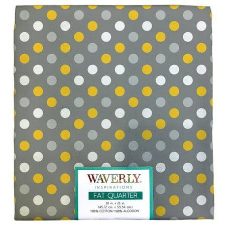 "Waverly Inspirations Cotton 18"" x 21"" Fat Quarter Multi Dot Print Fabric, 1 Each"