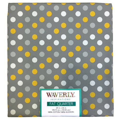 "Waverly Inspiration Fat Quarter 100% Cotton, Multi Dot Print Fabric, Quilting Fabric, Craft fabric, 18"" by 21"", 140 GSM"