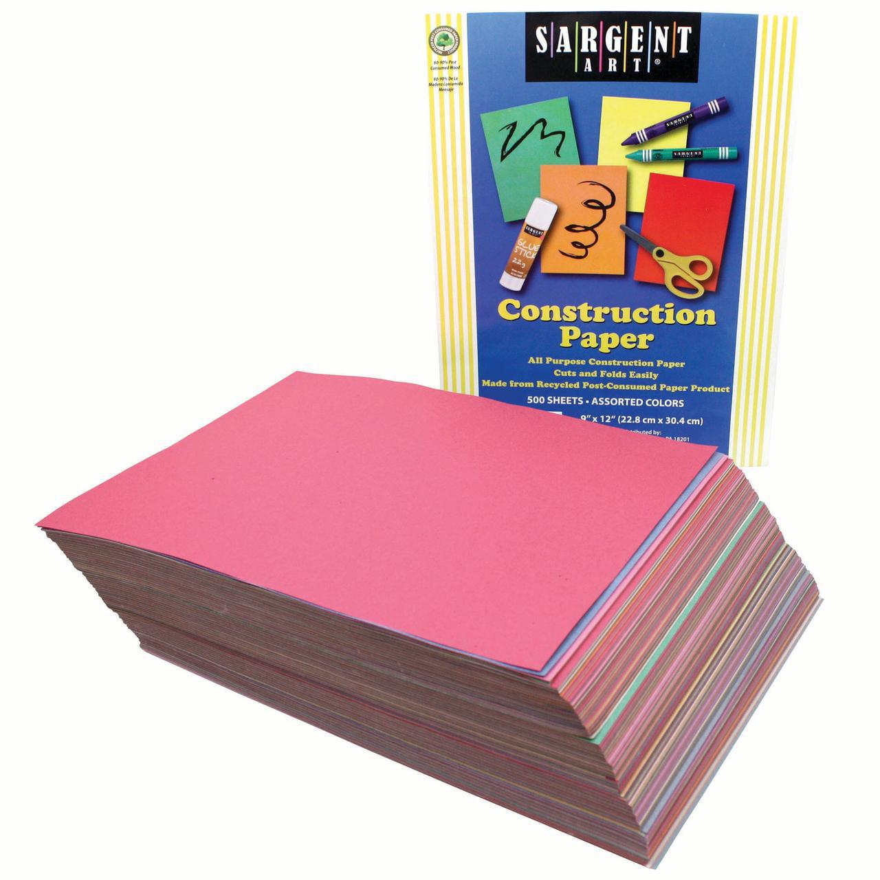Sargent Art® Construction Paper Multi Pack, 500 Sheets
