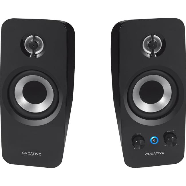 Creative T15 2.0 Speaker System - Wireless Speaker(s) - 32.8 ft - Bluetooth