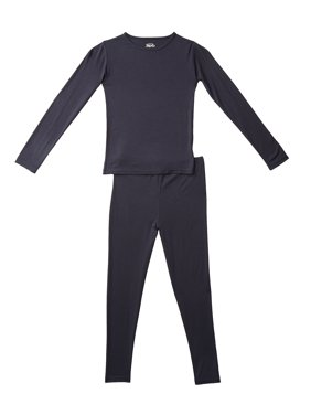 360air Kid's Thermal Underwear Heat Jersey Top and Bottom Thermal Set, (Unisex)