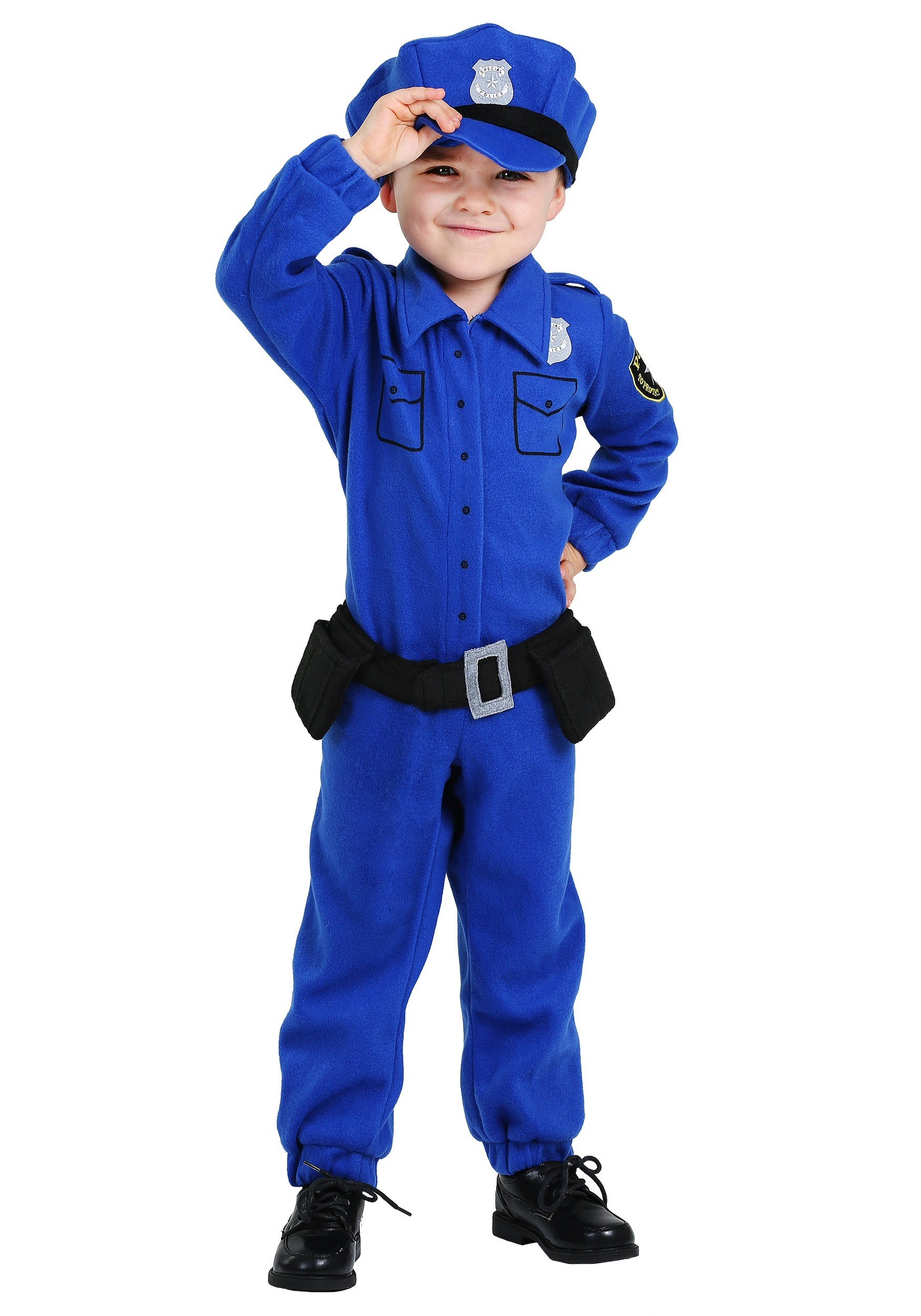 Toddler Fleece Police Costume by