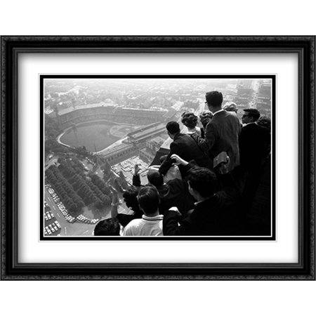 World Series, Pittsburgh, 1960 2x Matted 32x26 Large Black Ornate Framed Art Print by George Silk - Large Art Silk