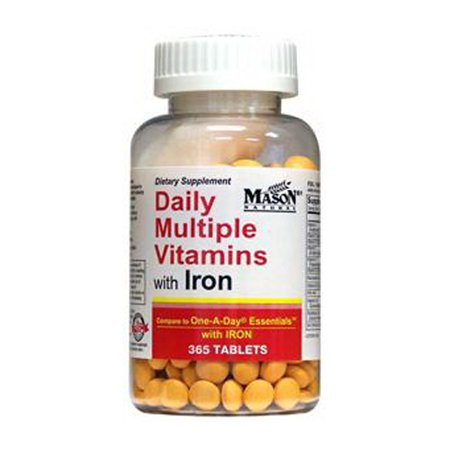 Mason Natural Daily Multiple Vitamins With Iron Compare To One A Day Essentials With Iron - 365 Tablets