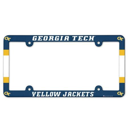 Georgia Tech Yellow Jackets Plastic License Plate Frame Georgia Tech Yellow Jackets Framed