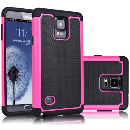 Galaxy Note 4 Case, Tekcoo [Tmajor Series] Shock Absorbing Hybrid Rubber Plastic Impact Defender Rugged Slim Hard Case Cover Shell For Samsung Galaxy Note