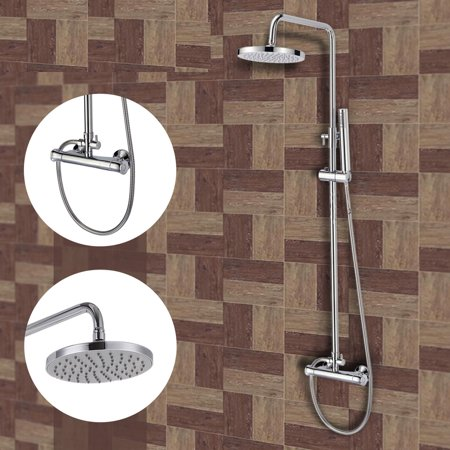 Chrome Wall Mounted Bathroom Bathtub Shower Faucet Set Mixer Hand
