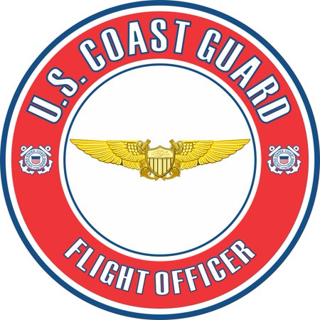 3.8 Inch U.S. Coast Guard Flight Officer Badge Decal Coast Guard Officer Rank