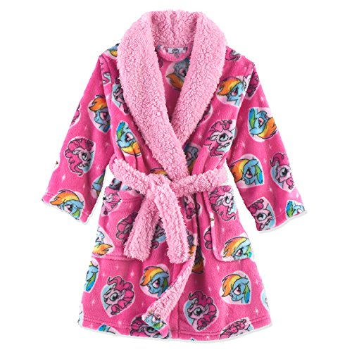 My Little Pony Toddler Girls' Luxe Plush Robe, Pony Pink, 3T