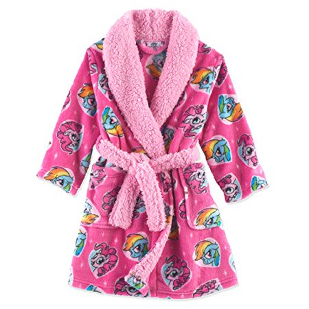 My Little Pony Toddler Girls' Luxe Plush Robe, Pony Pink, 3T](Toddler Girl Robe)