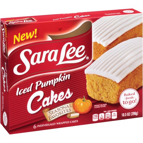 Sara Lee Iced Pumpkin Cakes, 6 count, 10.5