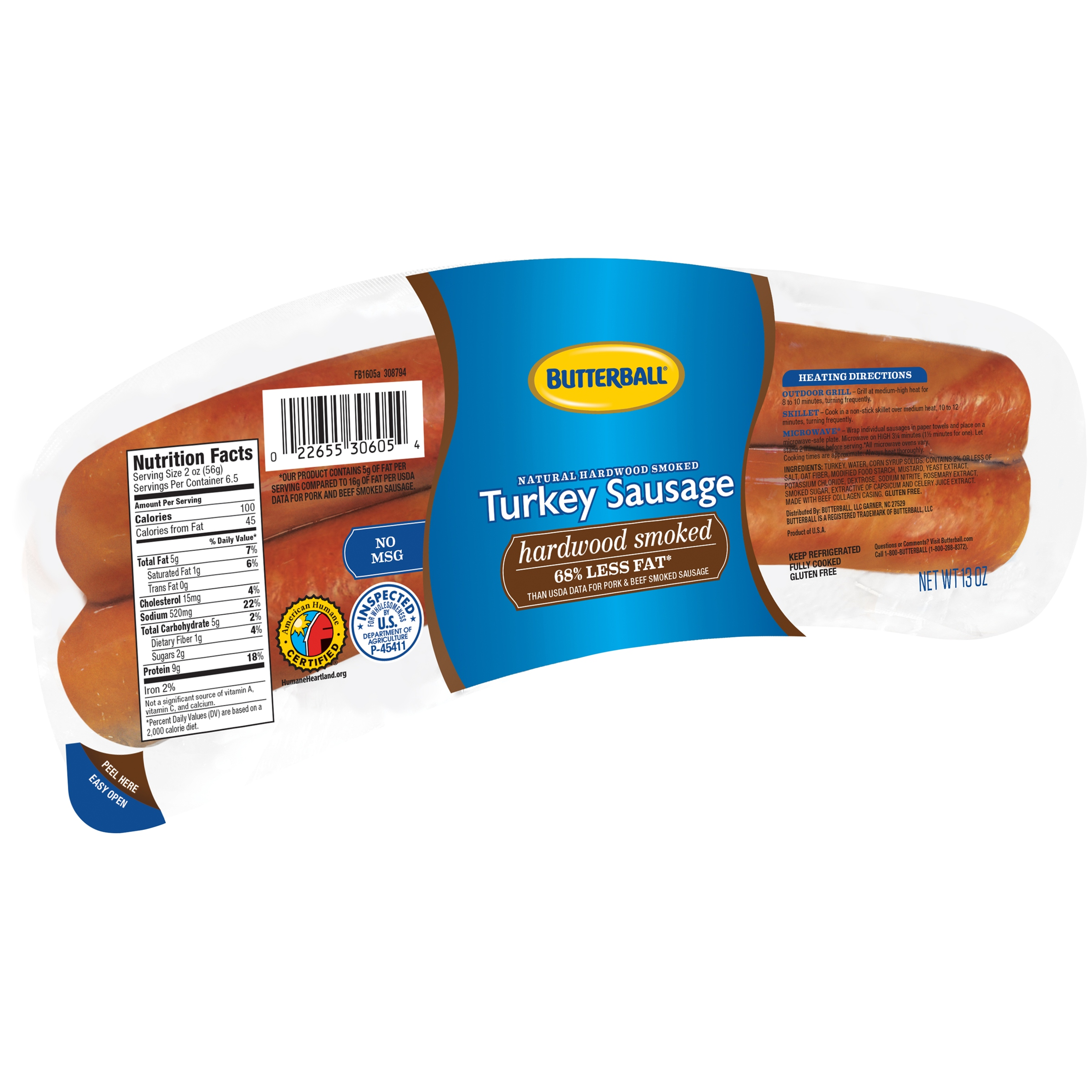Butterball® Natural Hardwood Smoked Turkey Sausage 13 oz. Pack