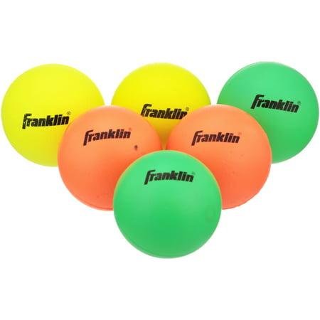 Franklin Sports Youth Lacrosse 7 in. Balls 6 ct Bag (Lacrosse Glow In Dark Ball)