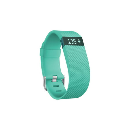 Fitbit Charge HR Heart Rate & Activity Fitness Monitor Wristband - Teal - Large