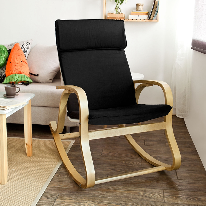 Haotian Comfortable Relax Rocking Chair, Gliders, Lounge Chair With Cotton  Fabric Cushion,FST15
